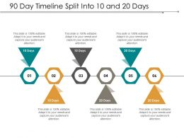 90 Day Timeline Split Into 10 And 20 Days