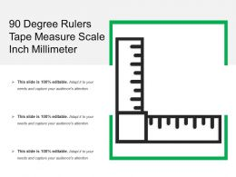 90 Degree Rulers Tape Measure Scale Inch Millimeter