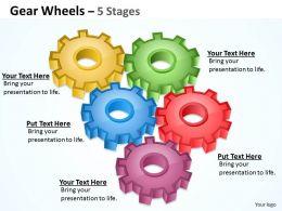87645258 Style Variety 1 Gears 5 Piece Powerpoint Presentation Diagram Infographic Slide