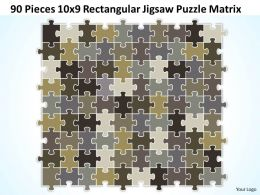 90 Pieces 10x9 Rectangular Jigsaw Puzzle Matrix Powerpoint templates 0812