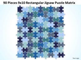 90 Pieces 9x10 Rectangular Jigsaw Puzzle Matrix Powerpoint templates 0812