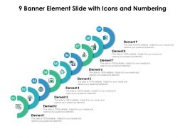 9 Banner Element Slide With Icons And Numbering