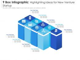 9 Box Infographic Highlighting Ideas For New Venture Startup