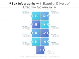 9 Box Infographic With Essential Drivers Of Effective Governance