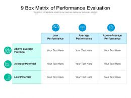 9 Box Matrix Of Performance Evaluation