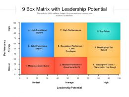 9 Box Matrix With Leadership Potential