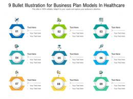 9 Bullet Illustration For Business Plan Models In Healthcare Infographic Template