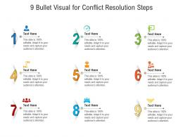 9 Bullet Visual For Conflict Resolution Steps Infographic Template