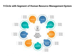 9 Circle With Segment Of Human Resource Management System