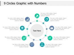 9 Circles Graphic With Numbers