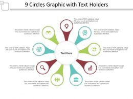 9 Circles Graphic With Text Holders