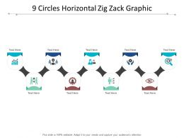 9 Circles Horizontal Zig Zack Graphic