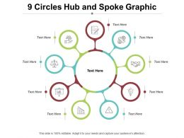 9 Circles Hub And Spoke Graphic