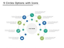 9 Circles Options With Icons