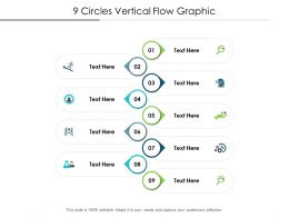 9 Circles Vertical Flow Graphic