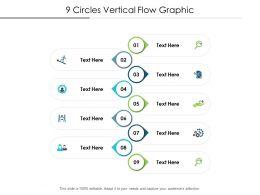 9 Circles Vertical Flow Graphic