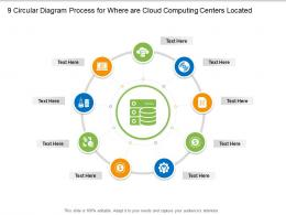 9 Circular Diagram Process For Where Are Cloud Computing Centers Located Infographic Template