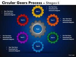 9 Circular Gears Flowchart Process