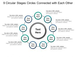9 Circular Stages Circles Connected With Each Other