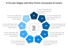 9 Circular Stages With Nine Points Connected At Centre
