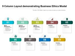 9 Column Layout Demonstrating Business Ethics Model