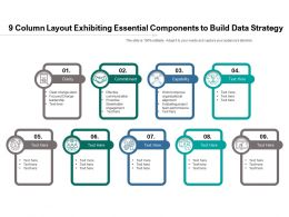 9 Column Layout Exhibiting Essential Components To Build Data Strategy