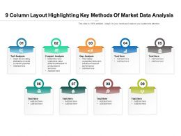 9 Column Layout Highlighting Key Methods Of Market Data Analysis