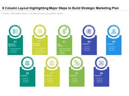 9 Column Layout Highlighting Major Steps To Build Strategic Marketing Plan