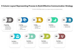 9 Column Layout Representing Process To Build Effective Communication Strategy