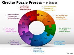 9 Components Circular flow Puzzle Process 6