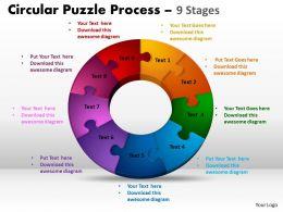 9 Components Circular Puzzle Process