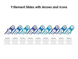 9 Element Slides With Arrows And Icons