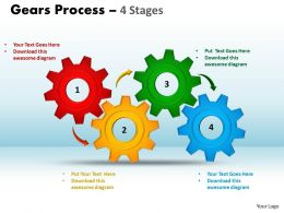9 Gears Process 4 Stages Style 1 Powerpoint Slides 67
