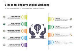 9 Ideas For Effective Digital Marketing
