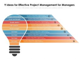 9 Ideas For Effective Project Management For Managers