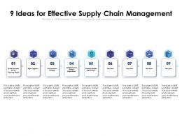 9 Ideas For Effective Supply Chain Management