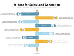 9 Ideas For Sales Lead Generation