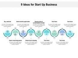 9 Ideas For Start Up Business