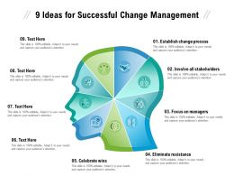 9 Ideas For Successful Change Management