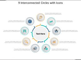 9 Interconnected Circles With Icons