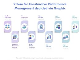 9 Item For Constructive Performance Management Depicted Via Graphics