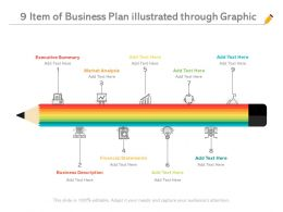 9 Item Of Business Plan Illustrated Through Graphic