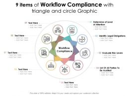 9 Items Of Workflow Compliance With Triangle And Circle Graphic