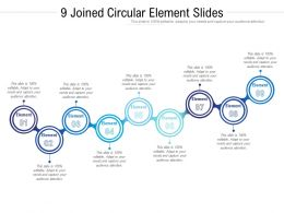 9 Joined Circular Element Slides