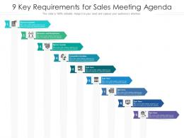 9 Key Requirements For Sales Meeting Agenda