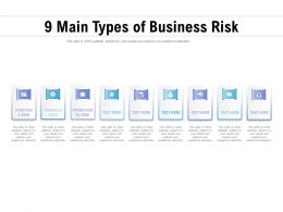 9 Main Types Of Business Risk