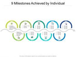 9 Milestones Achieved By Individual