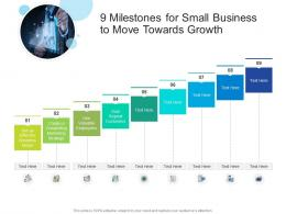 9 Milestones For Small Business To Move Towards Growth