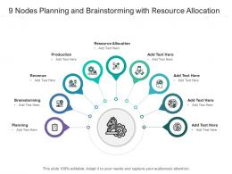 9 Nodes Planning And Brainstorming With Resource Allocation