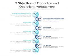 9 Objectives Of Production And Operations Management